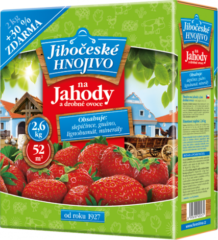 Jihočeské hnojivo Na jahody a jiné drobné ovoce 2 kg