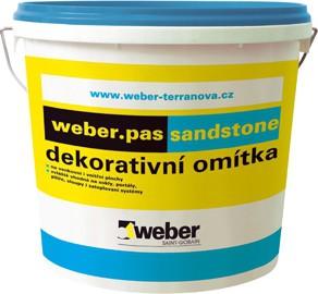 Designová omítka Weber.pas sandstone 20 kg dle vzorníku