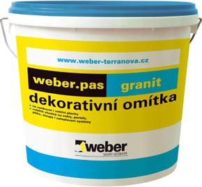 Designová omítka Weber.pas granit