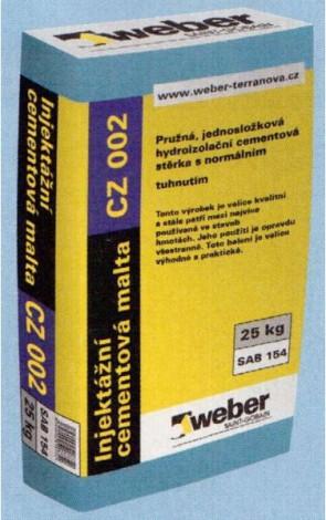 Weber Injektážní cementová malta zrnitost 2,0 mm