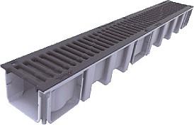 Nicoll Odvodňovací žlab s litinovou mříží C 250 1000x136x115