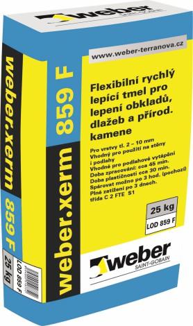 Rychletuhnoucí lepidlo pro obklady Weber.xerm 859 F