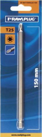 Rawlplug Bit TORX25 100 - 450 mm (blistr) TORX25 200 mm TORX25 x 200 mm