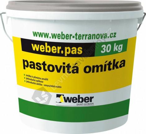 Silikonová omítka Weber.pas silikon rýhovaný rýhovaný 2,0 mm 2 mm