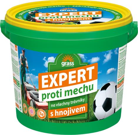 Trávníkové hnojivo Forestina EXPERT proti mechu 25 kg