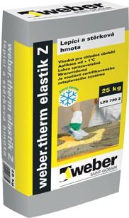 Zimní lepící tmel Weber.therm elastik Z