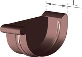 GMT Plastové žlabové čelo čelo 75 mm - levé 75 mm