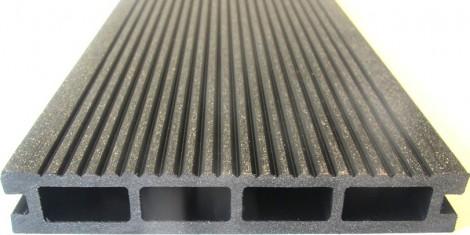 Unvoc Terasový profil WPC MAT Tmavě šedá - 2000 mm 23 x 146 x 2000 mm jemné rýhování/hladké