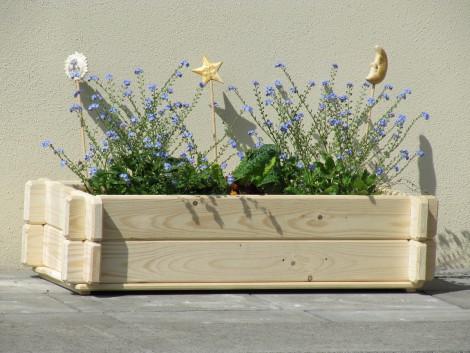 Dřevěný truhlík K2 18,5 x 74 x 30 cm přírodní