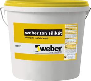 Fasádní nátěr Weber.ton silikát 25 kg