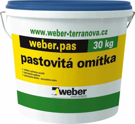 Silikátová omítka Weber.pas silikát rýhovaný 2 mm