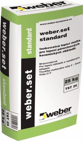 Lepidlo na obklady a dlažby Weber.set standard