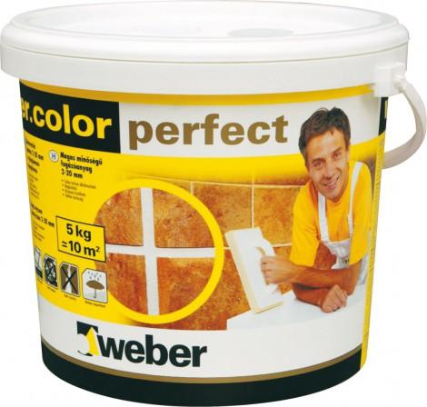 Spárovací tmel Weber.color perfect marbel grey 5 kg šedá