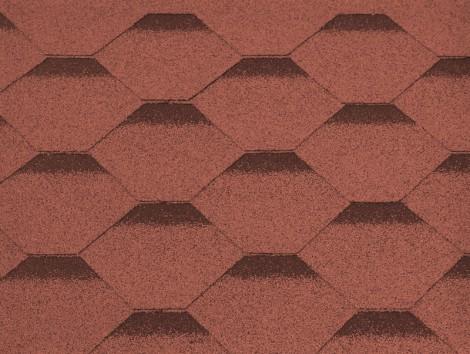Šindel Gutta Guttatec Hexagonal 0,317 x 1 m červená