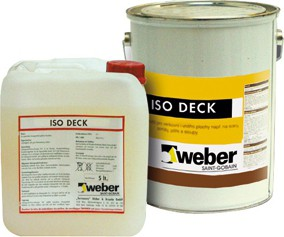 Speciální vnitřní nátěr Weber ISO DECK nátěr
