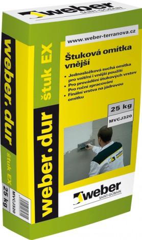 Štuková omítka Weber.dur štuk EX zrnitost 0,5 mm