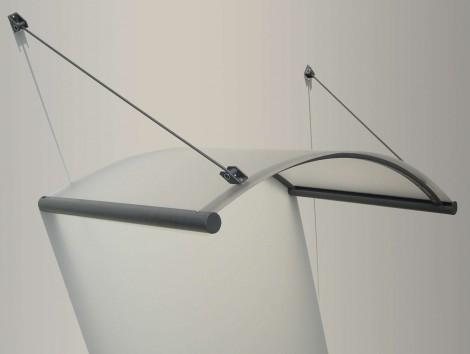 Vchodová stříška Gutta Rondo Glass 1,48x0,9x0,2 (0,7)