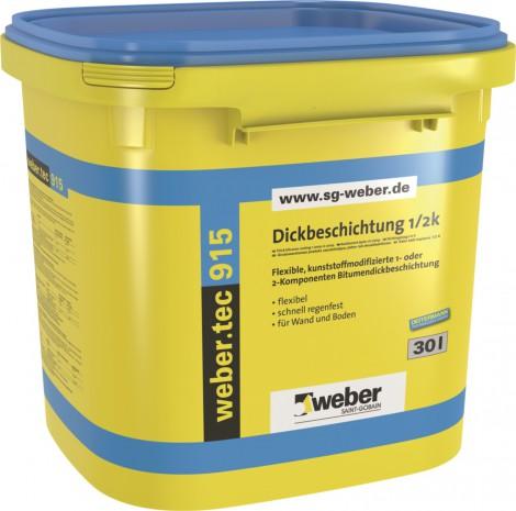Bitumenová hydroizolace Weber.tec 915 30 l černá