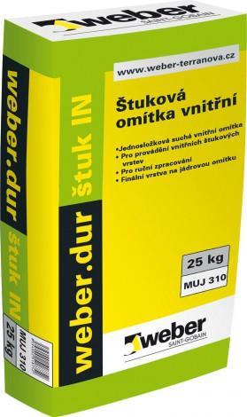 Štuková omítka Weber.dur štuk IN zrnitost 0,5 mm