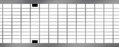 ACO MultiDrain V150 - Mřížkový rošt pozink. ocel, zátěž. třída B 125 kN rošt 1 m 1000 x 173 mm