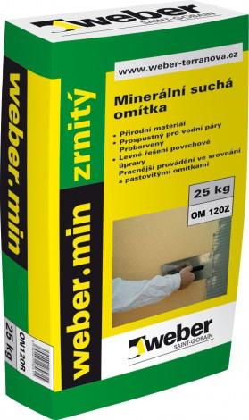 Weber Minerální omítka zatíraná bílá zrnitost 1 mm