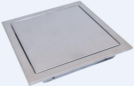 Revizní dvířka nerezová - tlačný magnet 300x300 tlačný magnet 300x300