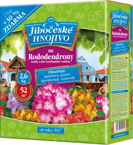 Jihočeské hnojivo Na rododendrony, azalky a jiné kyselomilné rostliny 2 kg