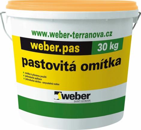 Fasádní omítka Weber.pas extraClean zrnitá 1 mm