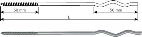 Koelner Kotva ke šroubování typ KWK KWK-4/210 4 x 210 mm