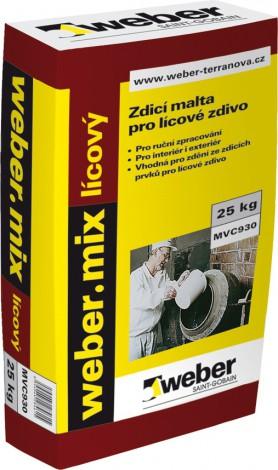 Zdící malta Weber.mix lícový zrnitost 2 mm
