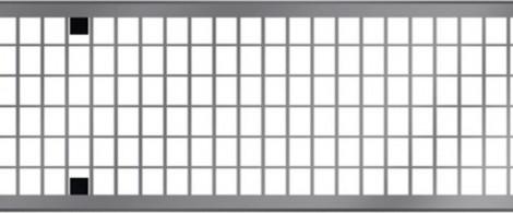 ACO MultiDrain V150 - Mřížkový rošt pozink. ocel, zátěž. třída D 400 kN. rošt 1 m 1000 x 173 mm