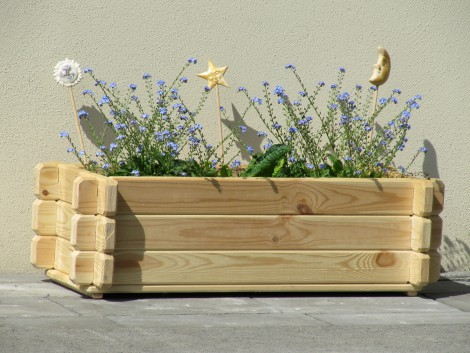 Dřevěný truhlík K3 21 x 74 x 31 cm přírodní