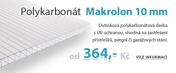 Polykarbonát Makrolon 10 mm